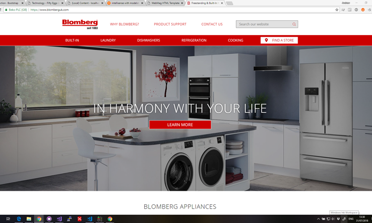All New Blomberg Site