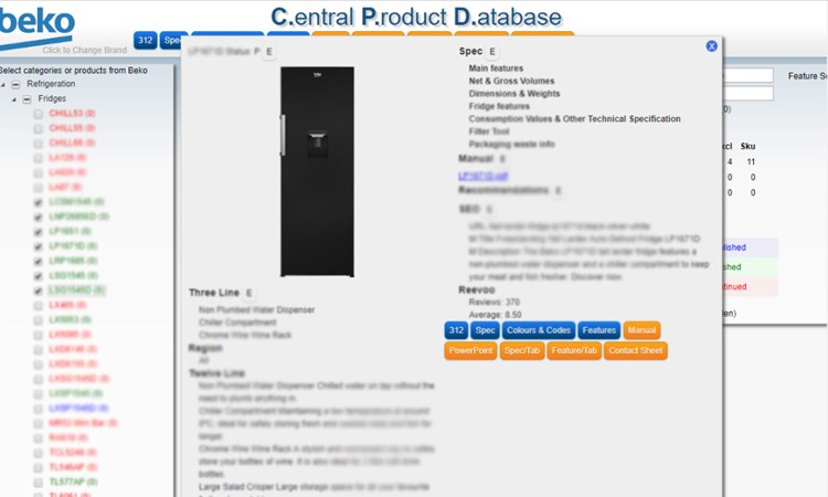 Central Product Database